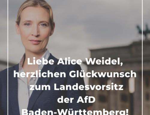 Ich gratuliere der neuen AfD-Landesvorsitzenden in Baden-Württemberg!