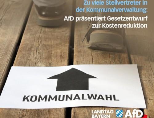 Zu viele Stellvertreter in der Kommunalverwaltung: AfD präsentiert Gesetzentwurf zur Kostenreduktion