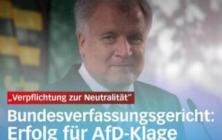Erfolg für AfD-Klage gegen Seehofer